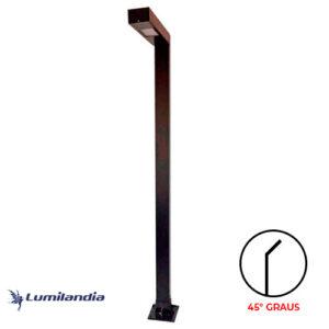 Poste de Jardim Pétala Minimalista Ludwig LED Integrado - Inclinado 45° Graus