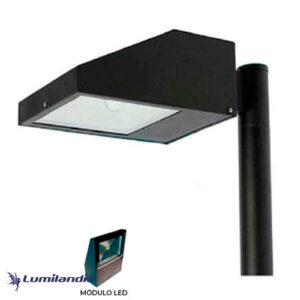 Poste Pétala Chanfrada com Refletor LED Slim 50W