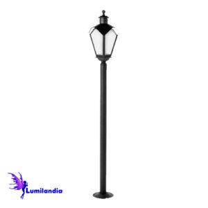Poste de Jardim Reto Lanterna Onda