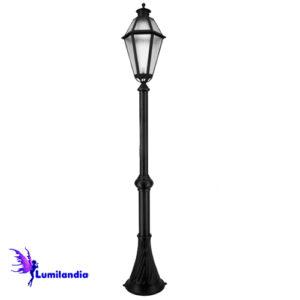 Poste de Jardim Tubo Decorado Lanterna Milano