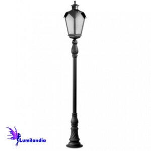 Poste de Jardim Tubo Decorado Lanterna Onda