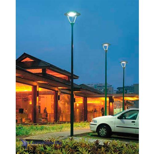 Poste de Luz Urbano Ilha Redondo Colonial com Módulo de LED INTEGRADO