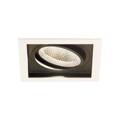Spot de Embutir LED Quadra Simples - 20w - 10° / 24° / 36° - Opcional Dimerizável