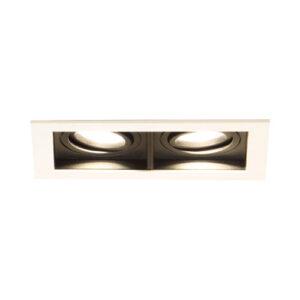 Spot de Embutir LED Quadra Duplo - 2x 10w - 10° / 24° / 36° - Opcional Dimerizável