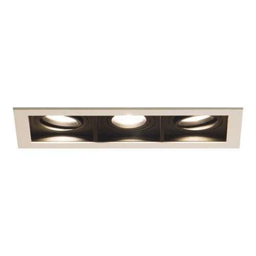 Spot de Embutir LED Quadra Triplo - 3x 20w - 10° / 24° / 36° - Opcional Dimerizável