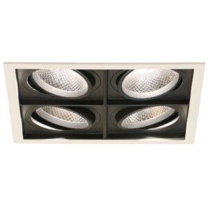 Spot de Embutir LED Quadra Quadruplo - 4x 20w - 10° / 24° / 36° - Opcional Dimerizável