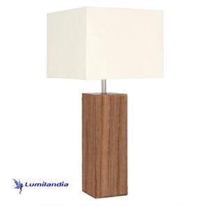 Luminária de Mesa Madeira Quadrado para Lâmpada LED