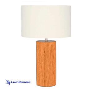 Luminária de Mesa Madeira Cilindro qpara Lâmpada LED