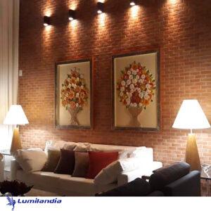 Luminária de Mesa Madeira Sextavada para Lâmpada LED