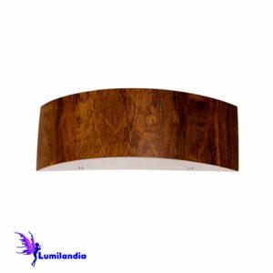Luminária de Parede Arandela de Madeira Curva Horizontal para Lâmpada LED