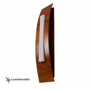 Luminária de Parede Arandela de Madeira Curva Vertical Grande para Lâmpada LED