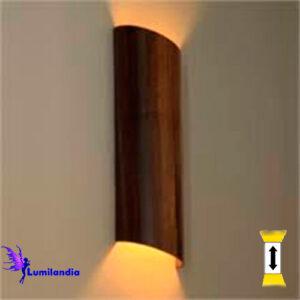 Luminária de Parede Arandela de Madeira Meia Cana para Lâmpada LED