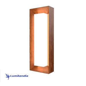 Luminária de Parede Arandela de Madeira Meio Retangular para Lâmpada LED