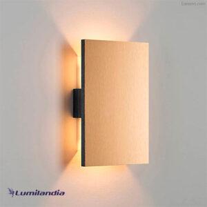 Luminária de Parede Arandela de Madeira Plana para Lâmpada LED