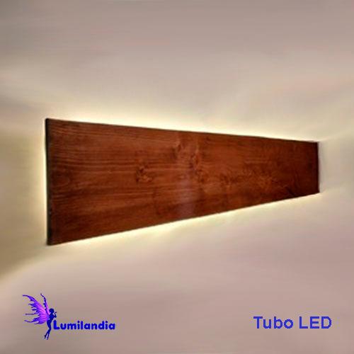 Luminária de Parede Arandela de Madeira Longa para Lâmpadas de LED