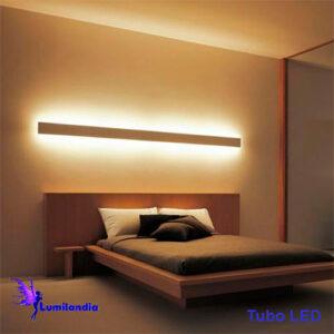 Luminária de Parede Arandela de Madeira Reta Quadrada Longa para Lâmpada Tubo LED