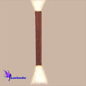Luminária de Parede Arandela de Madeira Reta Quadrada para Lâmpada LED