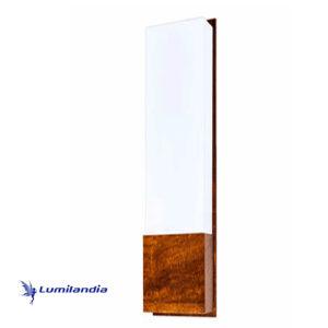 Luminária de Parede Arandela de Madeira Retangular Clean Longa para Lâmpada LED