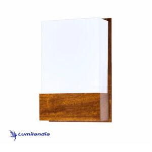 Luminária de Parede Arandela de Madeira Retangular Clean Grande para Lâmpada LED
