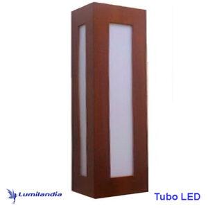 Luminária de Parede Arandela de Madeira Retangular Clean Longa Vazada para Lâmpada LED