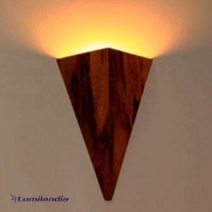 Luminária de Parede Arandela de Madeira Tocha Menor para Lâmpada LED