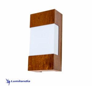 Luminária de Parede Arandela de Madeira Facho Horizontal para Lâmpada LED