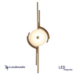 Luminária de Parede Arandela Moderna Hors Pedra Ônix com LED Integrado