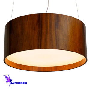Luminária Pendente de Madeira Redondo