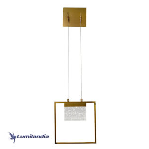 Arandela Moderna Cristal Lírios Com LED Integrado