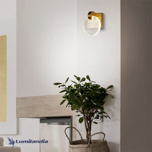Arandela Moderna Disco Cristal Com LED Integrado