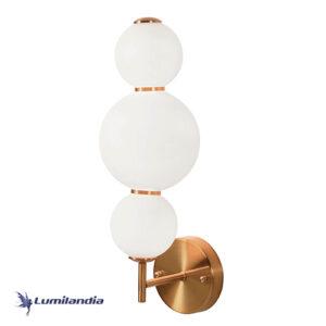 Arandela Moderna Puril Bubbles 3 Globos Com LED Integrado
