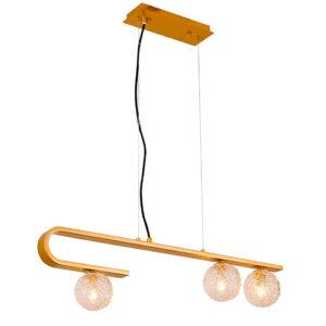 Lustre Pendente Moderno 3 Globos Com LED Integrado