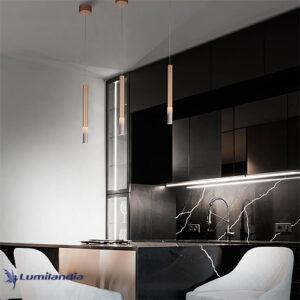 Pendente Cisne Com LED Integrado - Preto
