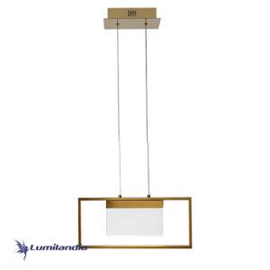 Pendente Cristal Lírios Com LED Integrado Largo