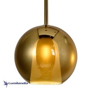 Pendente Moderno Borec Globo Brilhante Gold