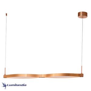 Pendente Moderno Horizon Onda Dupla Com LED Integrado