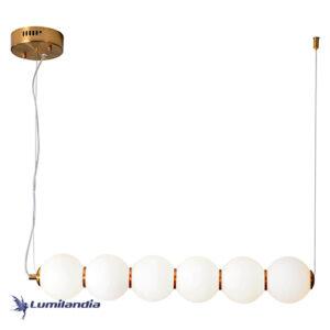 Pendente Moderno Puril Bubbles 6 Bolas com LED Integrado