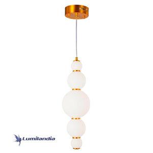 Pendente Moderno Puril Bubbles 5 Bolas com LED Integrado