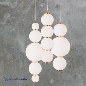 Pendente Moderno Puril Bubbles com LED Integrado Modelo