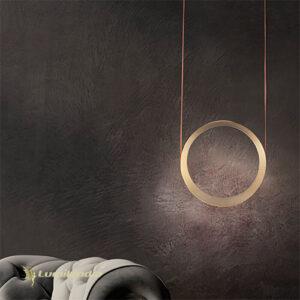 Pendente Moderno Ring Gold Com LED Integrado