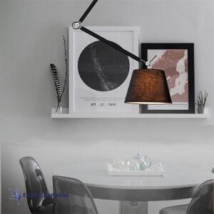 Pendente Plafon Moderno Com Cúpula Articulada