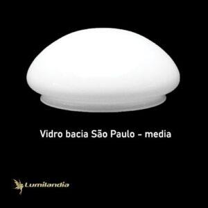 Globo de Vidro Bacia São Paulo Leitoso Médio