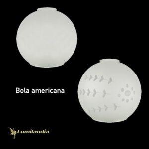 Globo Vidro para Luminária Bola Americana