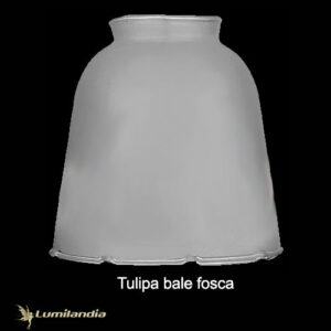 Tulipa de Vidro Bale Fosca para Luminária
