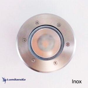 Luminária Embutida de Solo Em Inox para Lâmpada LED